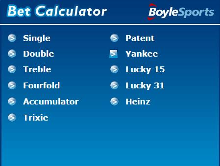 Accumulator Calculation Sports