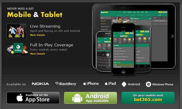 bet365 mobile app vs site