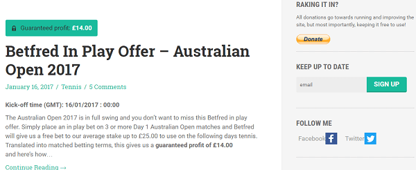Blog Matched Betting