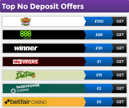 Free Bet No Deposit Offers