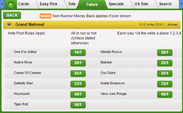 Grand National Betting Odds