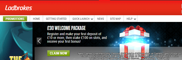 Ladbrokes Gaming Promotions