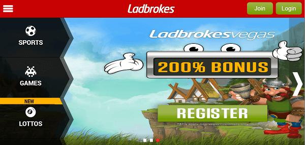 Ladbrokes mobile site
