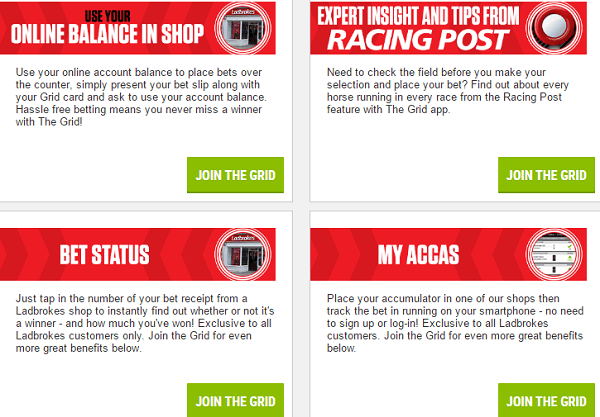 Ladbrokes The Grid Features