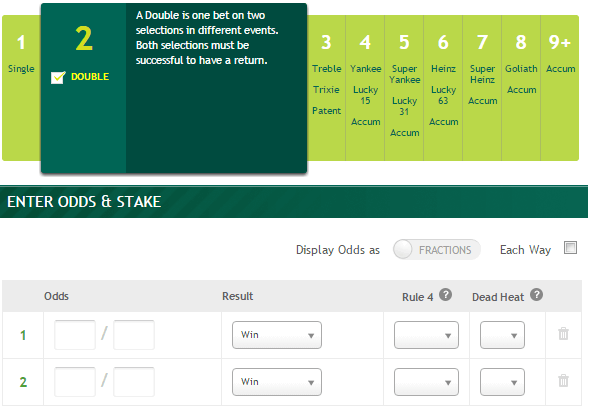 Paddy Power Odds Calculator