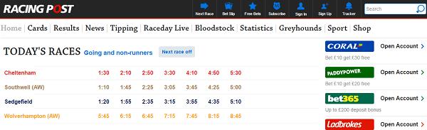 Uk racing post betting site william hill betting australia time