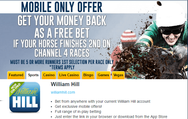 William Hill App Sports