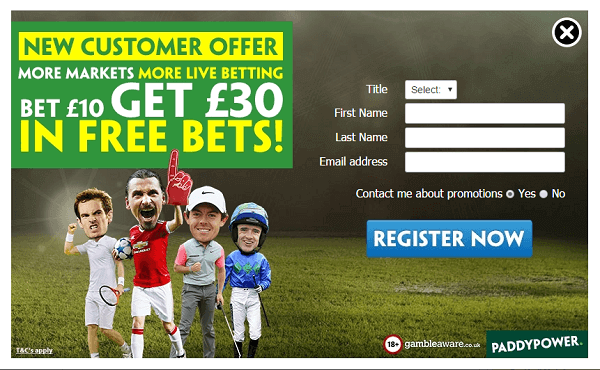 Free Bets at PaddyPower