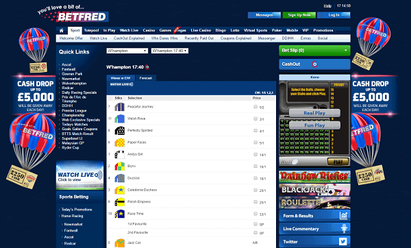Betfred Horse Races