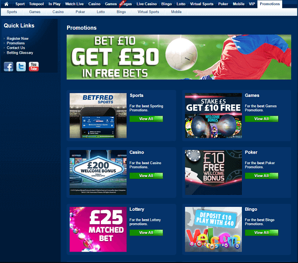 Betfred Promotions